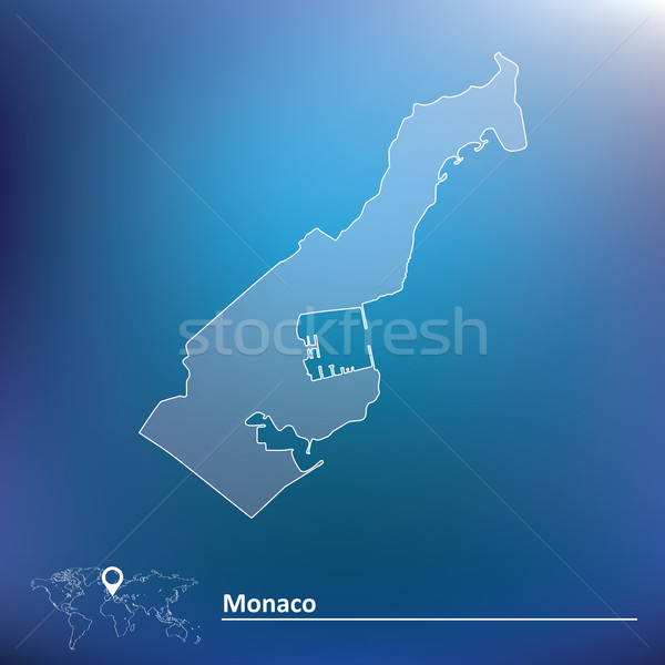Map of Monaco Stock photo © ojal