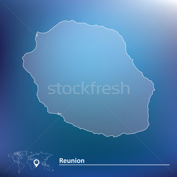 Map of Reunion Stock photo © ojal