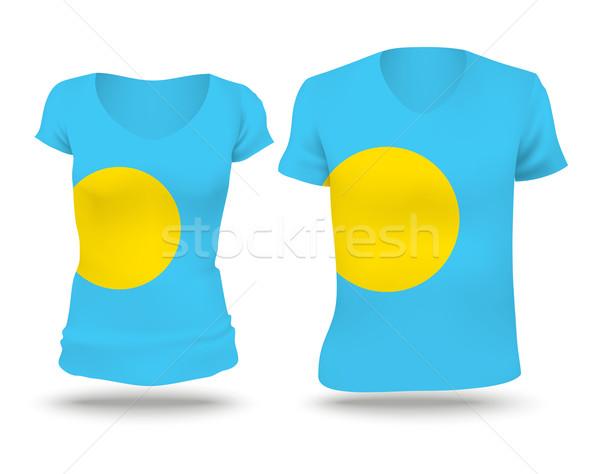 フラグ シャツ デザイン パラオ 女性 男 ストックフォト © ojal