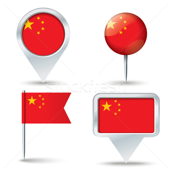 Map pins with flag of China Stock photo © ojal