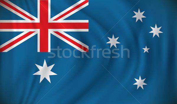 Flagge Australien Hintergrund blau Reise Sterne Stock foto © ojal