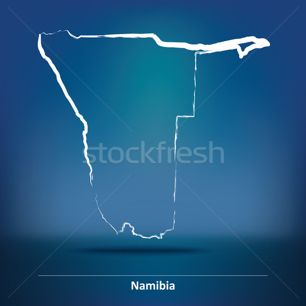болван карта Намибия текстуры солнце зеленый Сток-фото © ojal