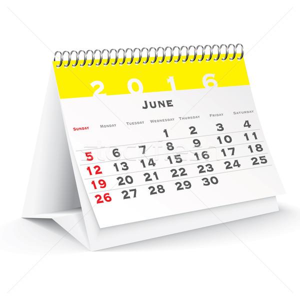 June 2016 desk calendar Stock photo © ojal