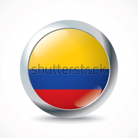 Colombia flag button Stock photo © ojal