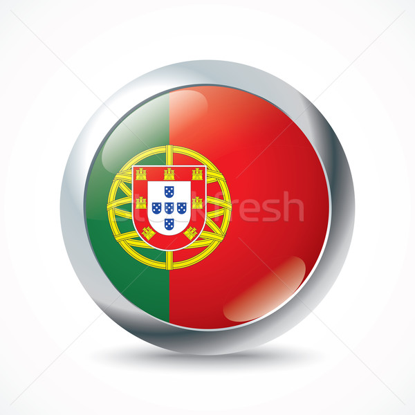 Portugal flag button Stock photo © ojal