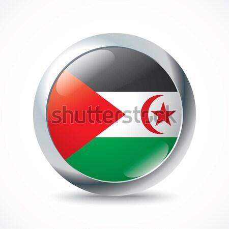 Western Sahara flag button Stock photo © ojal