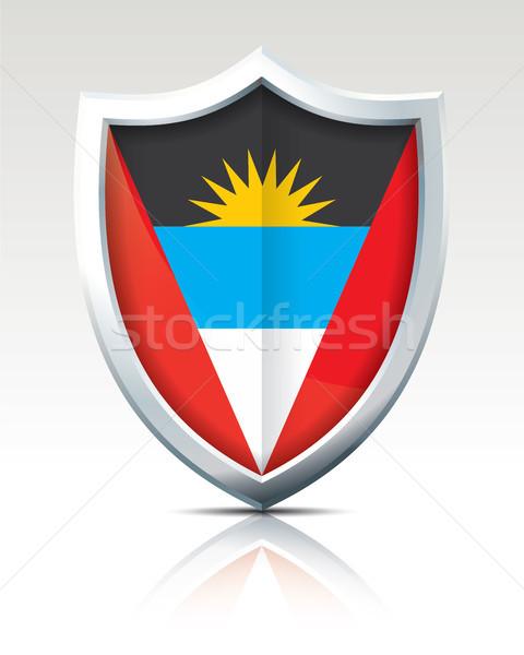 Shield with Flag of Antigua and Barbuda Stock photo © ojal