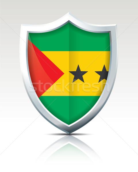 Shield with Flag of Sao Tome and Principe Stock photo © ojal
