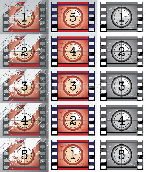 Film countdowns (vector) Stock photo © ojal