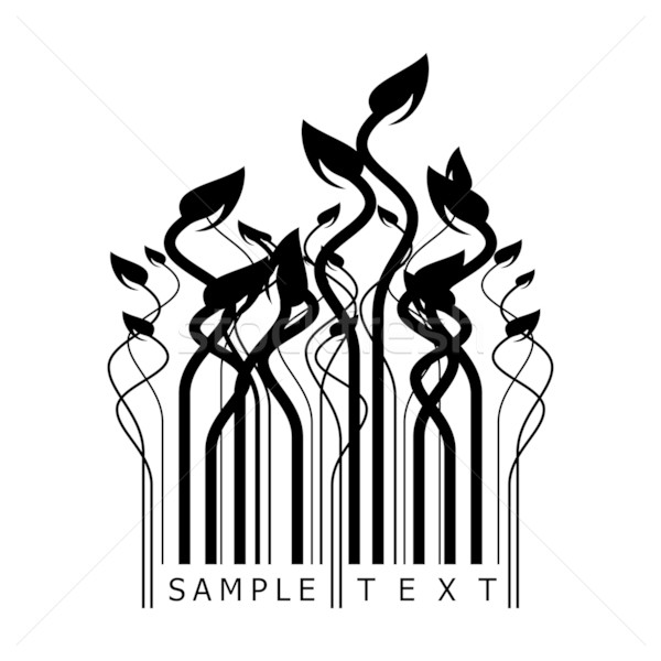 floral barcode Stock photo © ojal