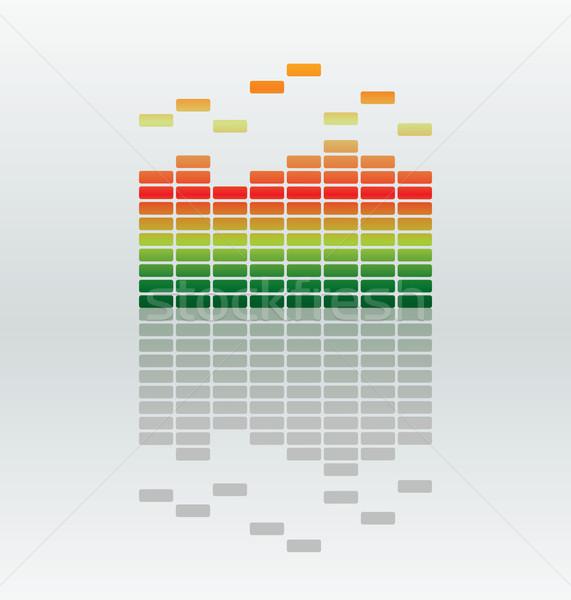 Ecualizador vector bar reflexión resumen luz Foto stock © ojal