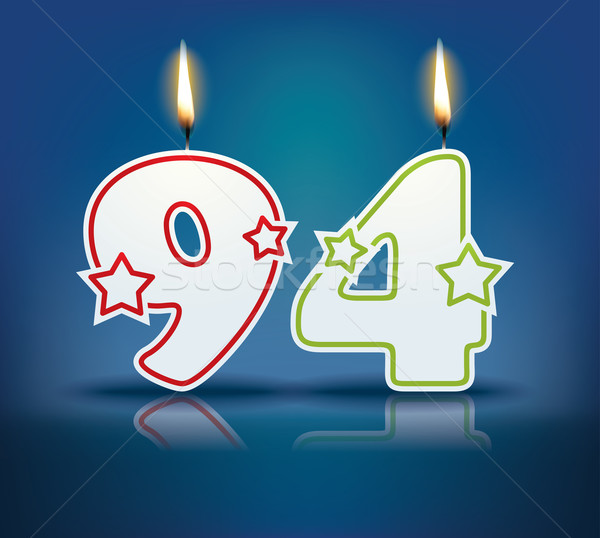 Birthday candle number 94 Stock photo © ojal