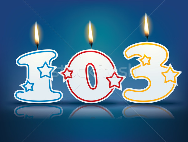 Birthday candle number 103 Stock photo © ojal