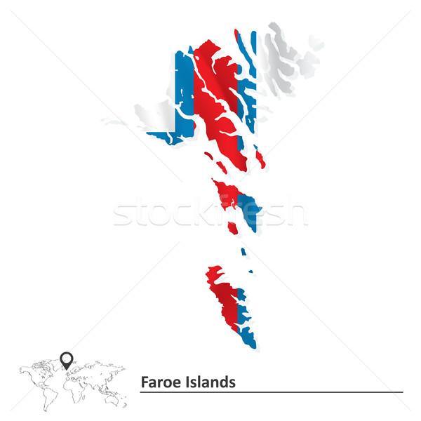 Mapa bandera textura mundo azul Foto stock © ojal