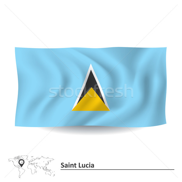 Flag of Saint Lucia Stock photo © ojal