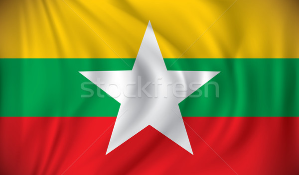 Flag of Burma Stock photo © ojal