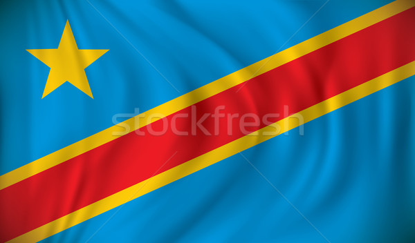 Flag of Democratic Republic of the Congo Stock photo © ojal