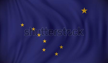 флаг Аляска аннотация синий цвета обои Сток-фото © ojal