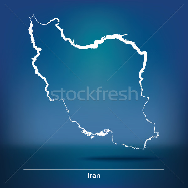 Doodle Map of Iran Stock photo © ojal