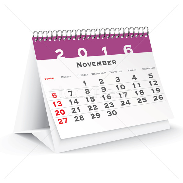 November 2016 desk calendar Stock photo © ojal