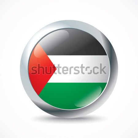 Gaza Strip flag button Stock photo © ojal