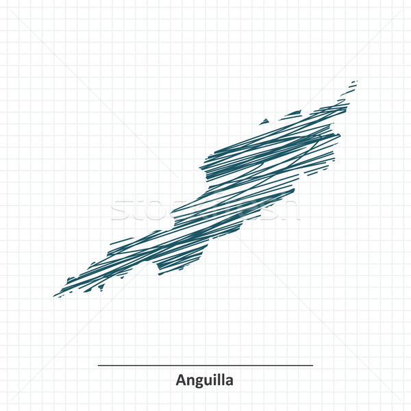 Doodle sketch of Anguilla map Stock photo © ojal