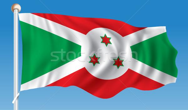 Bandeira Burundi textura projeto assinar viajar Foto stock © ojal