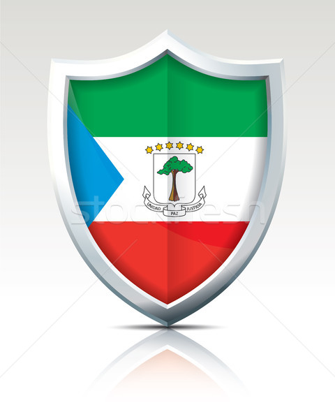 Shield with Flag of Equatorial Guinea Stock photo © ojal