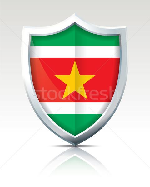 щит флаг Суринам Мир знак путешествия Сток-фото © ojal