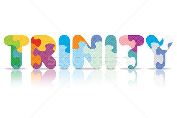 Vector TRINITY written with alphabet puzzle Stock photo © ojal