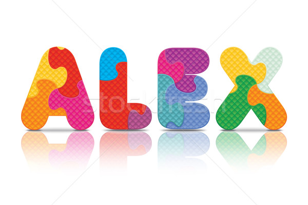 Vector ALEX written with alphabet puzzle Stock photo © ojal