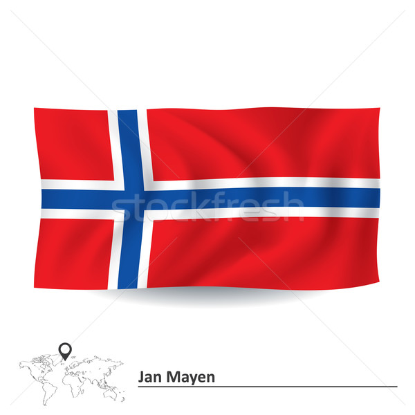 Flag of Jan Mayen Stock photo © ojal