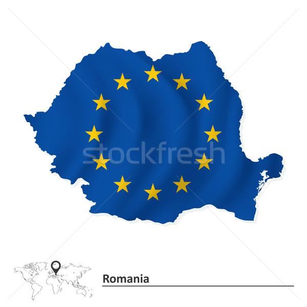 карта Румыния европейский Союза флаг аннотация Сток-фото © ojal