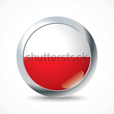Polen vlag knop textuur ontwerp wereld Stockfoto © ojal