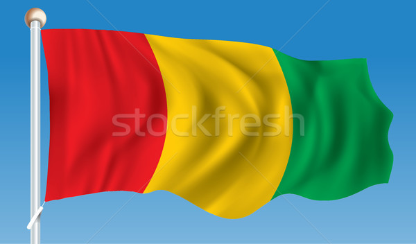 Zászló Guinea textúra utazás piros szél Stock fotó © ojal