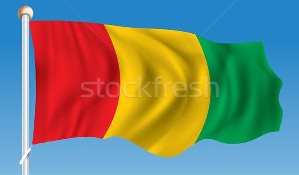 Vlag Guinea textuur reizen Rood wind Stockfoto © ojal