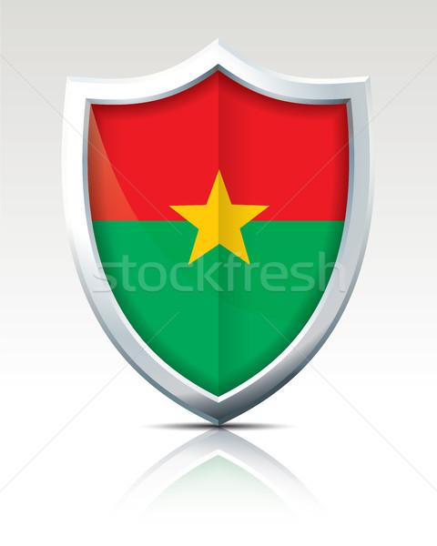 Escudo bandeira Burkina abstrato natureza fundo Foto stock © ojal