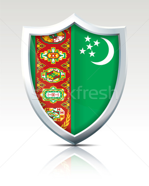 Shield with Flag of Turkmenistan Stock photo © ojal