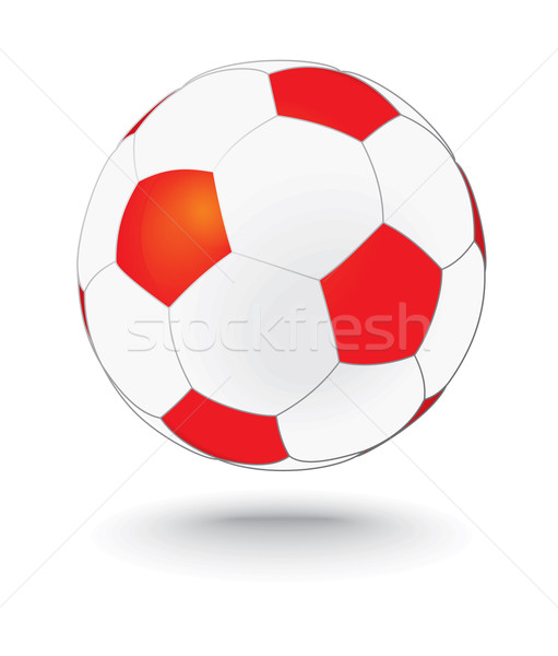 simply red and white soccerball, football Stock photo © ojal