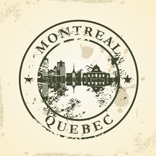 Grunge rubber stamp with Montreal, Quebec Stock photo © ojal