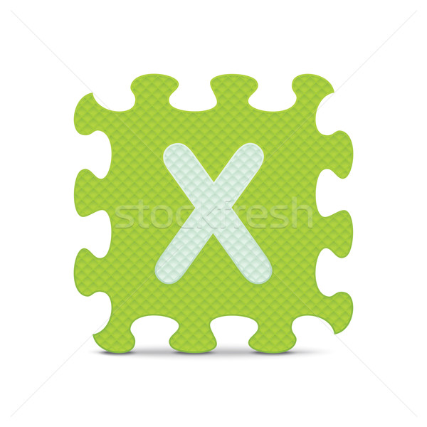 Vector letter 'X' written with alphabet puzzle Stock photo © ojal