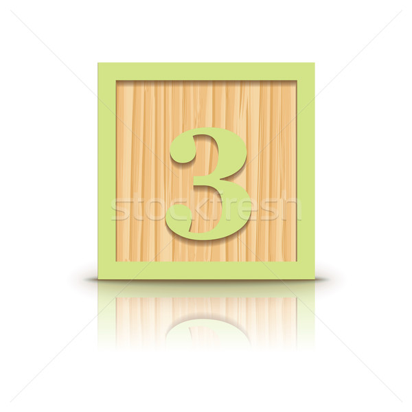 Stok fotoğraf: Vektör · numara · ahşap · alfabe · iş · inşaat