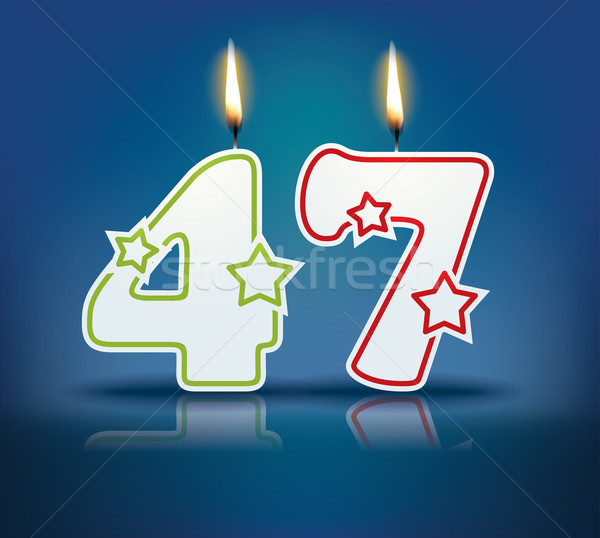 Birthday candle number 47 Stock photo © ojal
