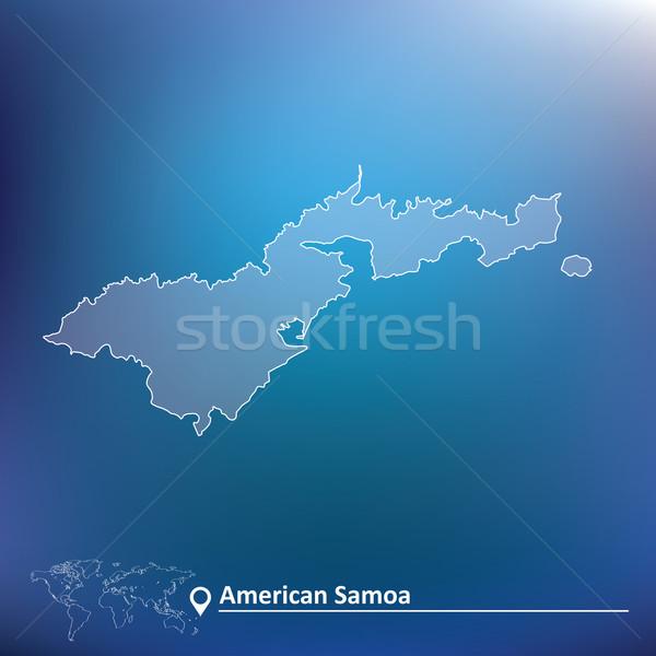 Map of American Samoa Stock photo © ojal