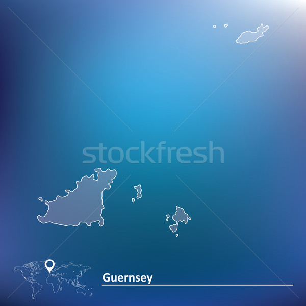 Map of Guernsey Stock photo © ojal