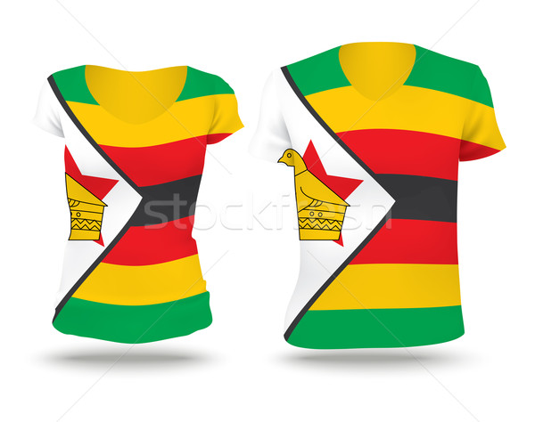 Flag shirt design of Zimbabwe Stock photo © ojal