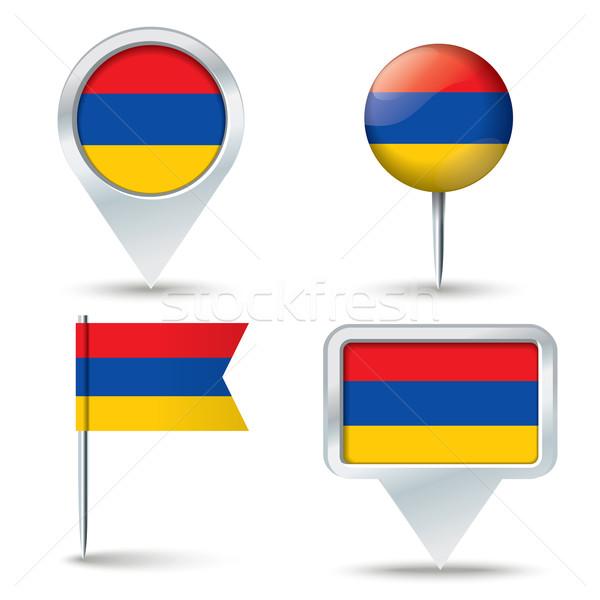 地図 フラグ アルメニア ビジネス 道路 白 ストックフォト © ojal