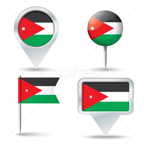 Mapa bandeira Jordânia negócio estrada branco Foto stock © ojal