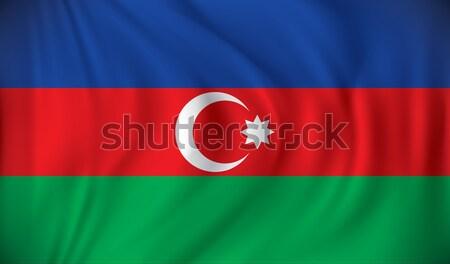 Bandera Azerbaiyán textura mapa resumen diseno Foto stock © ojal