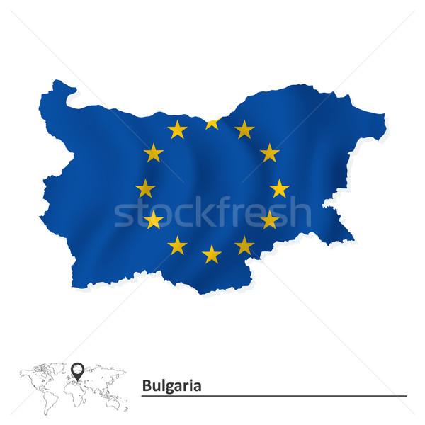 карта Болгария европейский Союза флаг Мир Сток-фото © ojal